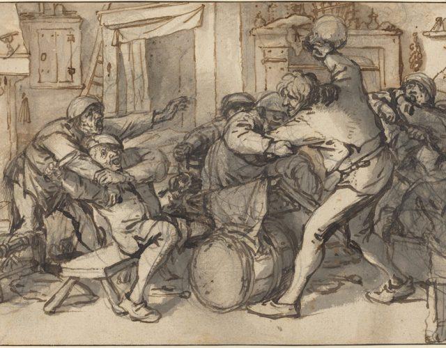 Burda w karczmie i bronie improwizowane