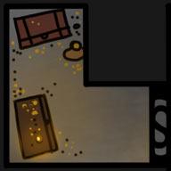Ilustracja do przygody RPG: Skarbiec za ukrytym przejściem.