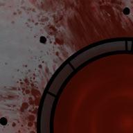 Ilustracja do przygody RPG:  Pale wokół dołu pełnego krwi.