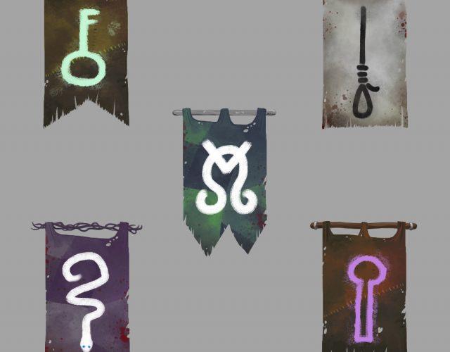 Chorągwie i pomysły na organizacje do świata fantasy