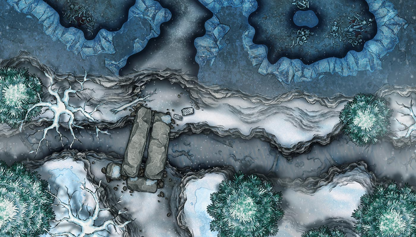 Grota yeti – darmowa mapka do RPG