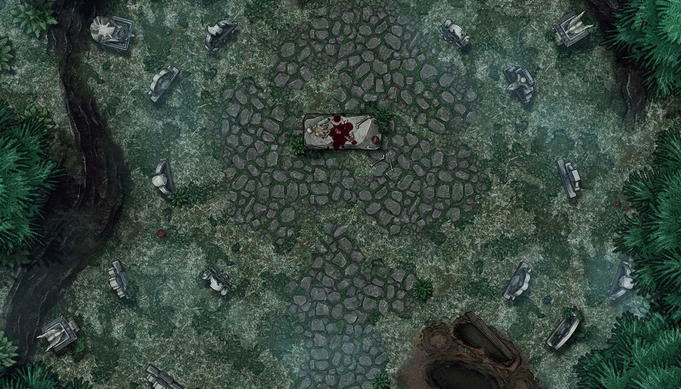 Bałagan nekromanty – darmowa mapka do RPG